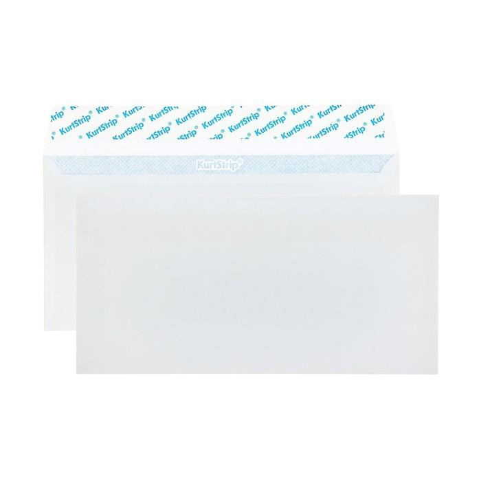 Конверт почтовый Е65 110х220 мм, чистый, без окна, силиконовая лента, внутренняя запечатка, 80 г/м², в упаковке 1000 шт.