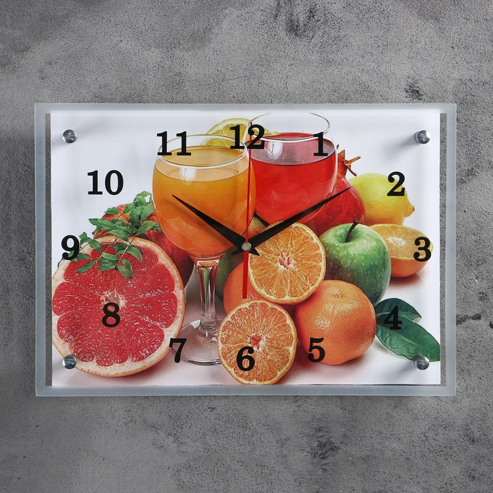 "Часы настенные, серия: Кухня, ""Цитрусы"", 25х35 см, микс"