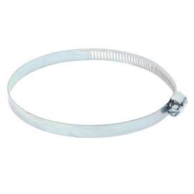 Хомут оцинкованный TUNDRA krep, сквозная просечка, диаметр 72-95 мм, ширина 12.7 мм
