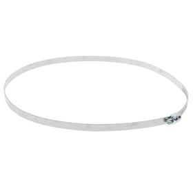 Хомут оцинкованный TUNDRA krep, несквозная просечка, диаметр 180-204 мм, ширина 9 мм Ош