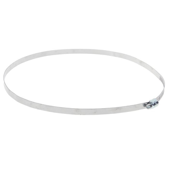 Хомут оцинкованный TUNDRA krep, несквозная просечка, диаметр 180-204 мм, ширина 9 мм