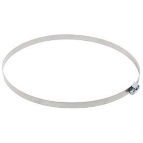 Хомут оцинкованный TUNDRA krep, несквозная просечка, диаметр 143-165 мм, ширина 9 мм Ош