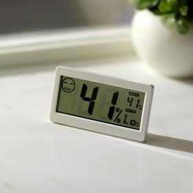 Термометр LTR-11, электронный, с гигрометром, белый Ош
