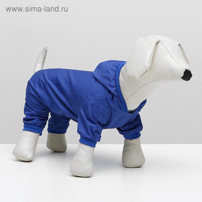 Комбинезон для собак, S (дс 22 см, ог 32 см) синий