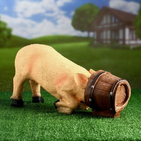 Садовая фигура 'Свинья в кадке' 48*16*24 см Ош