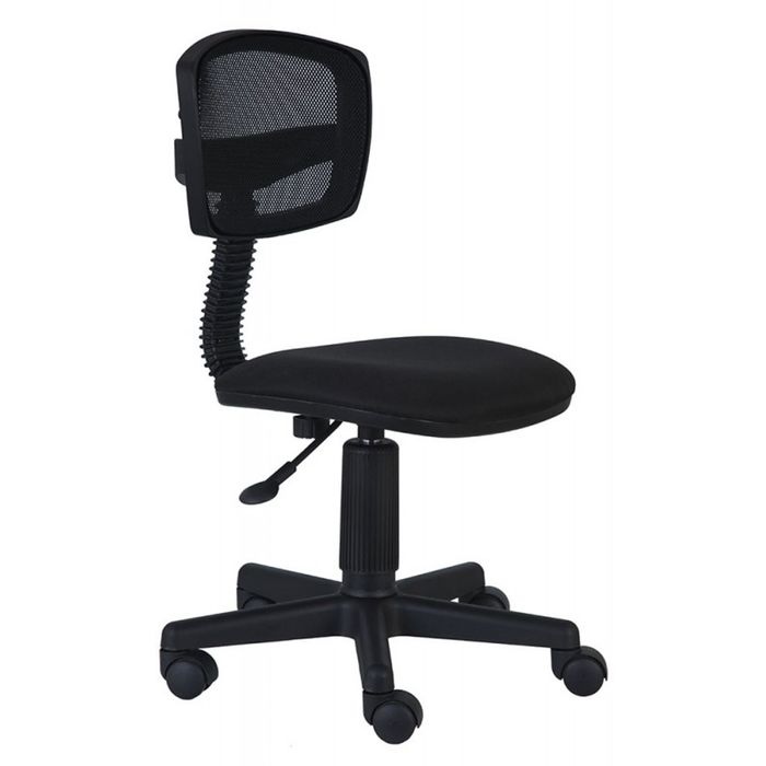 Кресло Бюрократ, черный, спинка сетка, CH-299NX15-21