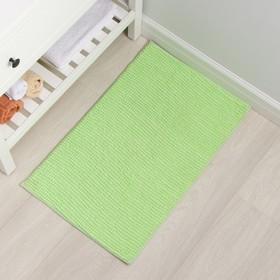 Коврик Доляна «Букли», 50×80 см, цвет зелёный