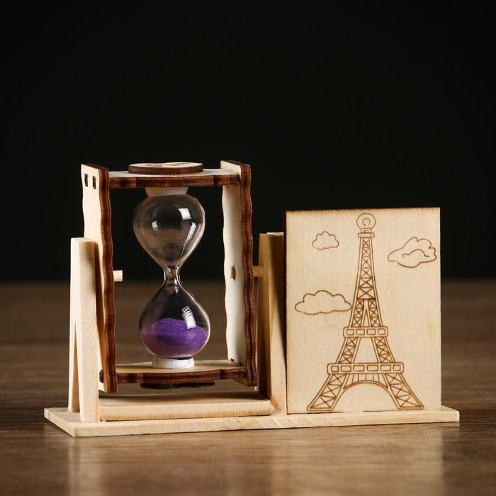 Часы песочные Башня с карандашницей, 10х13.5х5 см, микс