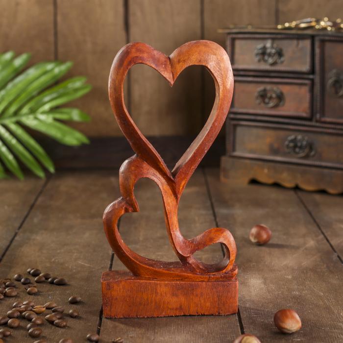 Сувенир Два сердца светлый