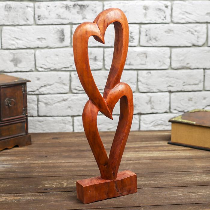 Сувенир Два сердечка, 40 см