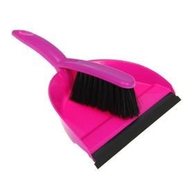 Набор для уборки «Клио»: совок с кромкой и щётка-сметка, цвет МИКС