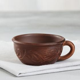 "Чашка ""Катон"", декор, красная глина, 0.2 л"