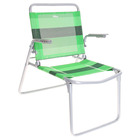 Кресло-шезлонг складное, 73 x 57 x 64 см, салатово-зелёные полоски К1