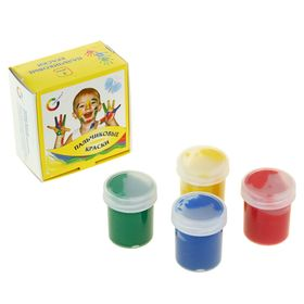 Краски пальчиковые, набор 4 цвета x 40 мл, Экспоприбор Ош
