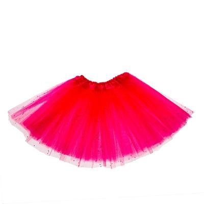 Карнавальная юбка, 3-х слойная, 4-6 лет, цвет розовый