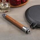 Сковорода блинная, d=24 см, съёмная ручка - Фото 4