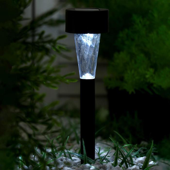 """Фонарь садовый на солнечной батарее """"Трапеция"""" 37,5 см, d-5,3 см, LED"""