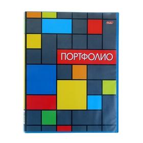 Папка-портфолио пластиковая, А4, 20 вкладышей «Яркая графика», корешок 14 мм Ош