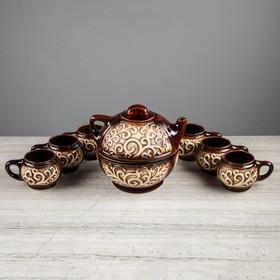 """Набор чайный """"Восток"""", 8 предметов: чайник 0.7 л, чашки 0.2 л"""