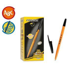 Ручка шариковая Carioca Corvina 51, 1.0 мм, жёлтый корпус, стержень чёрный