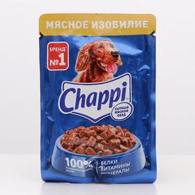 Влажный корм Chappi 'Мясное изобилие' для собак, пауч 100 г Ош