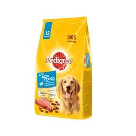 Сухой корм Pedigree для взрослых собак всех пород, говядина, 600 г Ош