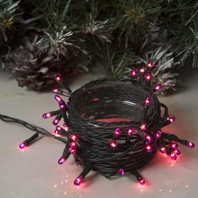 """Гирлянда """"Нить"""", 3.5 м, 50 ламп, 220V, 8 режимов, свечение фиолетовое"""