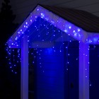 "Гирлянда ""Бахрома"" 3 х 0.6 м , IP44, прозрачная нить, 160 LED, свечение синее, 220 В - Фото 1"