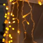 """Гирлянда """"Бахрома"""" 3 х 0.6 м , IP44, прозрачная нить, 160 LED, свечение жёлтое, 220 В - Фото 2"""