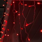 "Гирлянда ""Бахрома"" 3 х 0.6 м , IP44, УМС, прозрачная нить, 160 LED, свечение красное, 220 В - Фото 2"