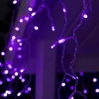 """Гирлянда """"Бахрома"""" 3 х 0.6 м , IP44, УМС, прозрачная нить, 160 LED, свечение фиолетовое, 220 В - Фото 2"""
