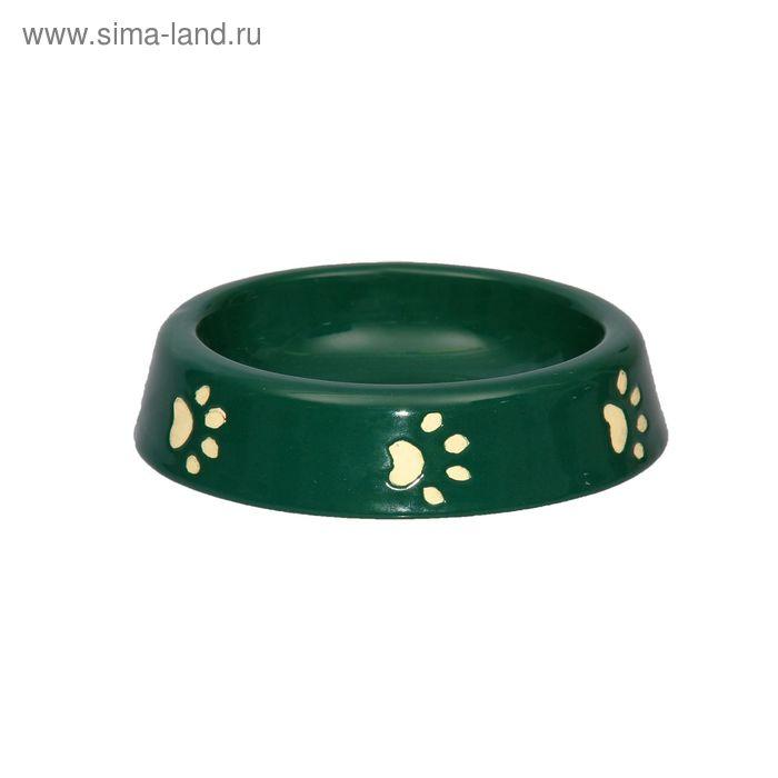 """Миска 200 мл """"Следы"""" зелёная"""
