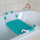 Сиденье для ванны раздвижное, цвет бирюза