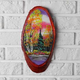Панно на спиле 'Осень', 30 см, каменная крошка, вертикальное Ош