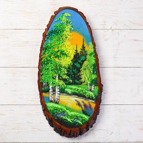 Панно на спиле 'Лето', 40 см, каменная крошка, вертикальное Ош