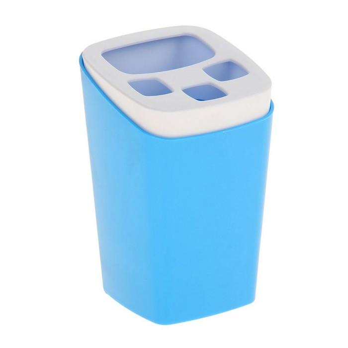 Подставка для зубных щёток Breeze, цвет голубая лагуна