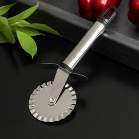 Нож для пиццы и теста Доляна «Помощник», 18 см, ребристый
