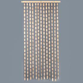 Эко-занавеска деревянная 'Спилы', 180 х 80 см, спил сосны Ош