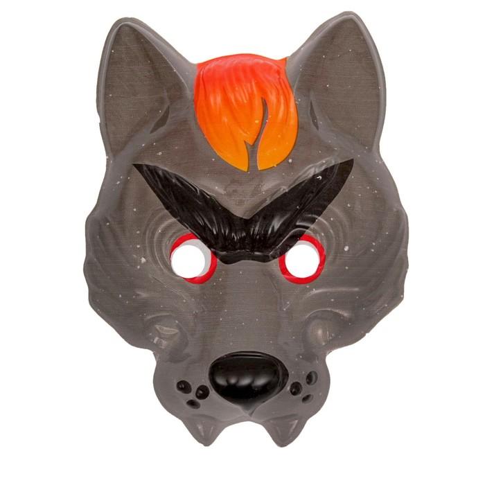 Карнавальная маска Серый волк, на резин�