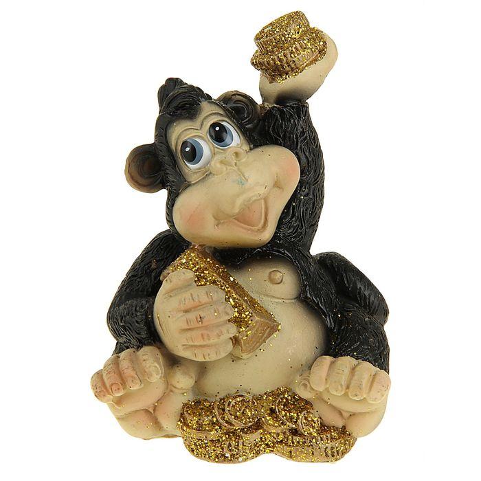 Сувенир Славная обезьянка с богатством МИКС