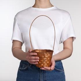 Корзина плетёная, бамбук, коричневая Ош
