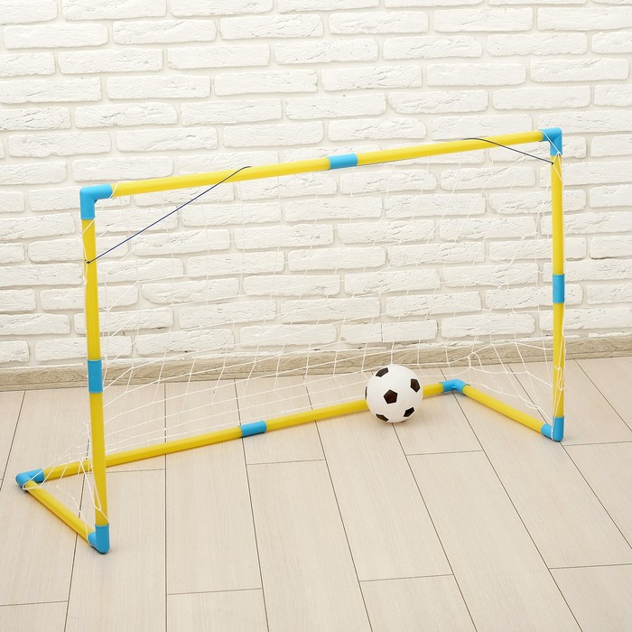 Ворота футбольные «Весёлый футбол» с сеткой, с мячом