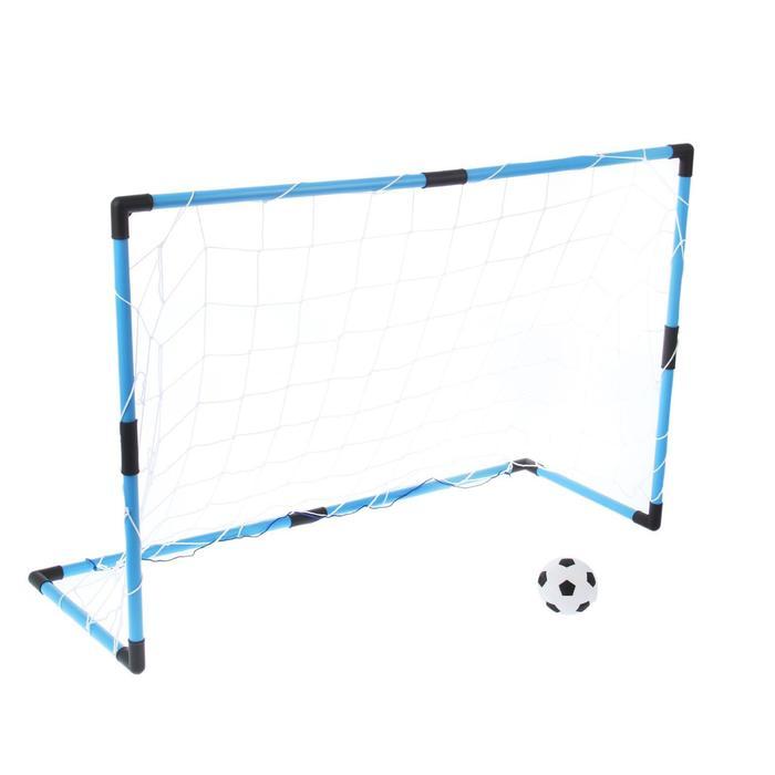 Ворота футбольные «Весёлый футбол», сетка, мяч d=14 см, размер ворот 98х34х64 см, МИКС