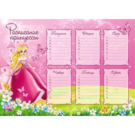 Расписание уроков А4 'Для принцессы' Ош