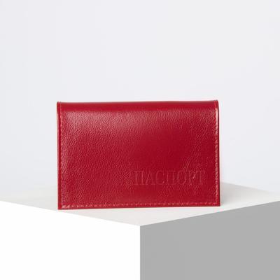 Обложка для паспорта, ладья, цвет красный матовый