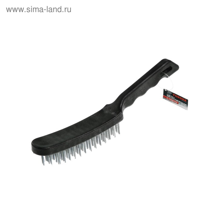 Щетка металлическая ручная TUNDRA, пластиковая рукоятка, 5-рядная