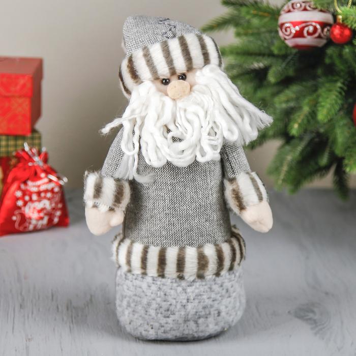 """Мягкая игрушка """"Дед Мороз в серой шубке"""""""