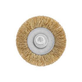 Щетка металлическая для дрели TUNDRA, со шпилькой, плоская, 40 мм Ош