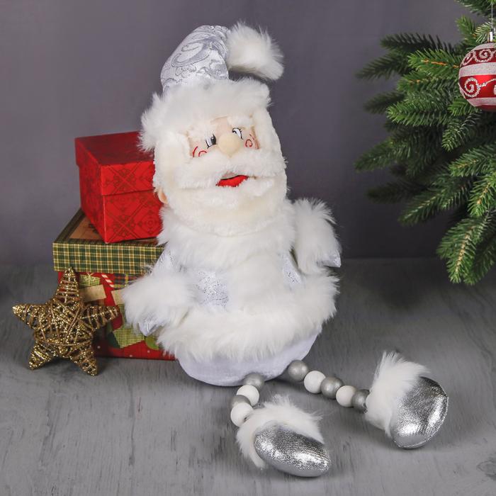 """Мягкая игрушка """"Дед Мороз"""" (кружевной, ножки-бусины, румяные щёчки)"""