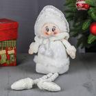 """Мягкая игрушка """"Снегурочка - длинные ножки"""" сидит 42 см белый"""